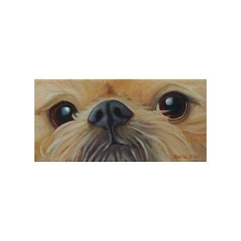 "Custom Made Brussels Griffon Painting - Original Dog Art - ""Hidden Agenda"" - Shelter Dog Art"