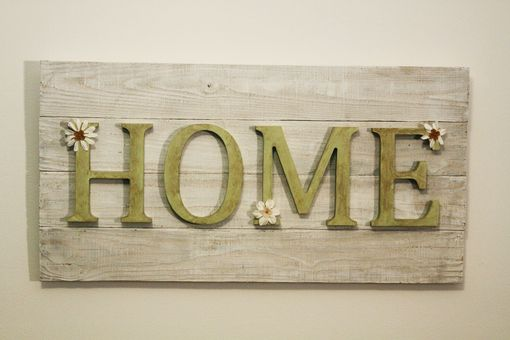 "Custom Made Wood ""Home"" Panel"