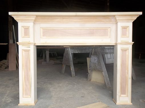Custom Made Paint- Grade Fireplace Mantel Surround