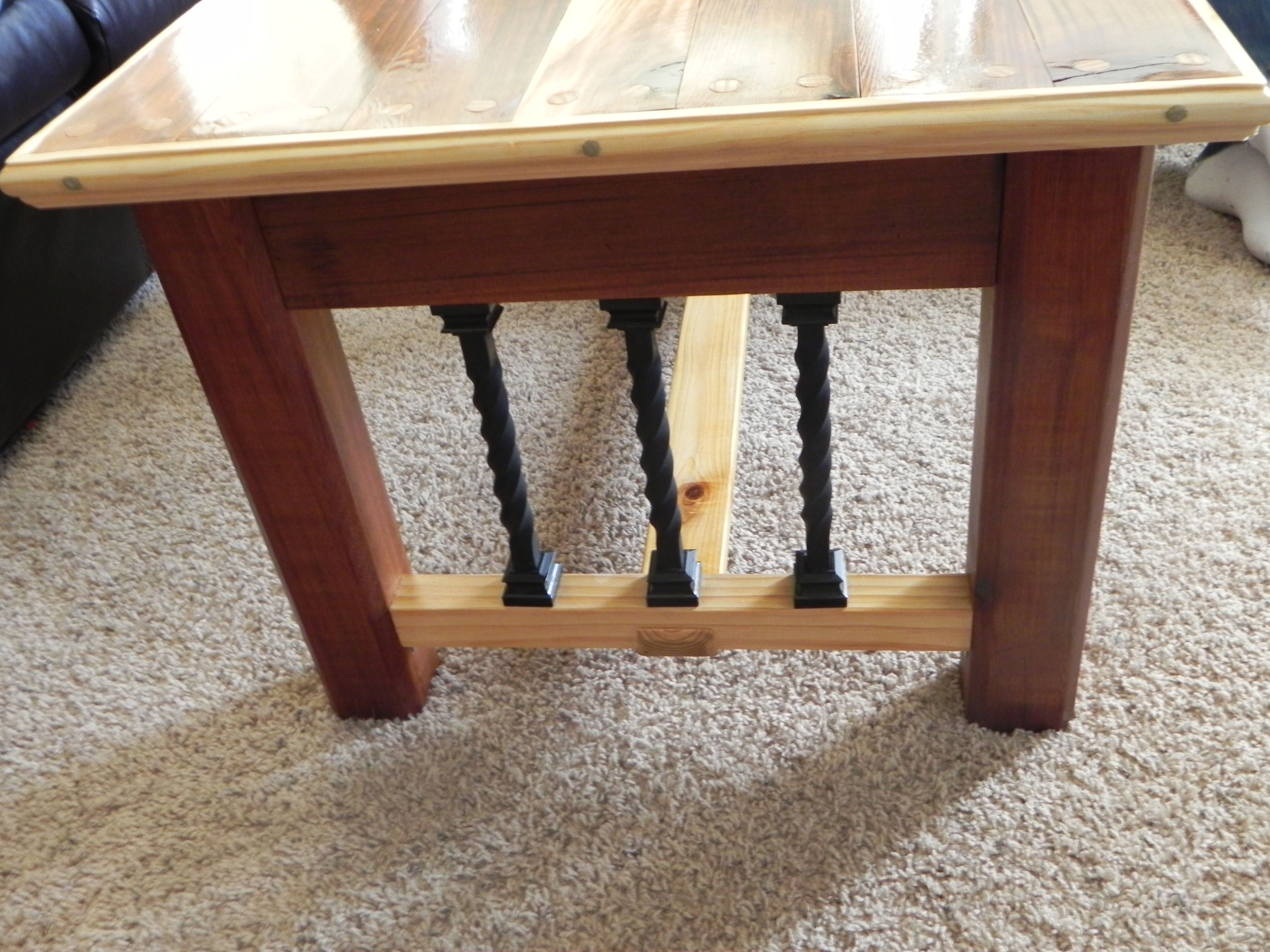 Buy a Custom Western Cedar Coffee Table made to order from