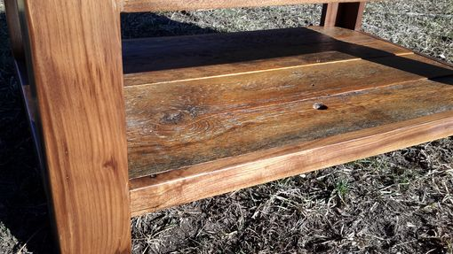 Custom Made Barnwood And Walnut Coffee Table . Made In Montana