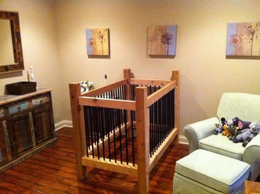 Custom Made Wood / Pipe Baby Bed