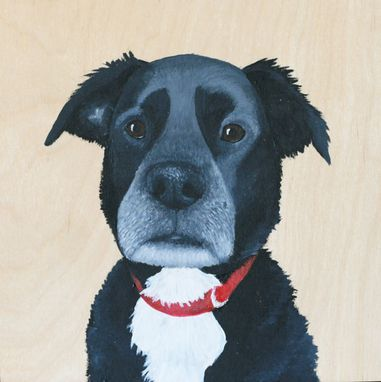 Custom Made Custom Pet Portrait, Wood Panel, Personalized Pet Memorial Dog Cat, Birthday