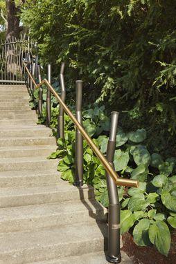 Custom Made Gates And Stair Rails For The W. J. Beal Botanical Garden At Michigan State University