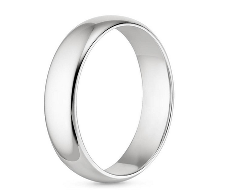 Custom Made 5mm Comfort Fit Wedding Ring