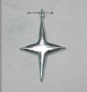 Custom Made Custom Sterling Silver North Star Pendant