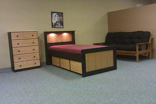Custom Made Two Tone Captain's Bed