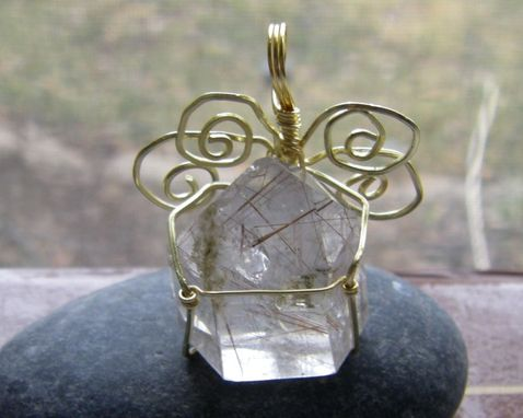 Custom Made Crystal Rutilated Quartz House Of Hope Wirewrapped Pendant