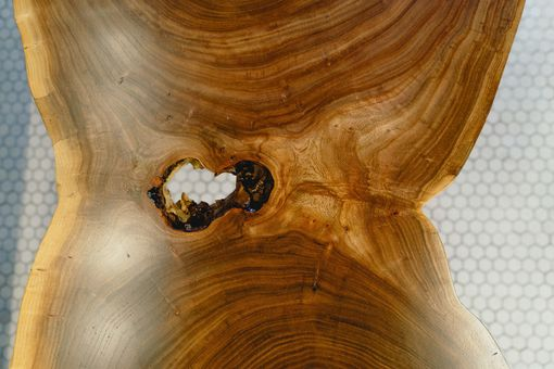 Custom Made Rare Cut Live Edge Coffee Table
