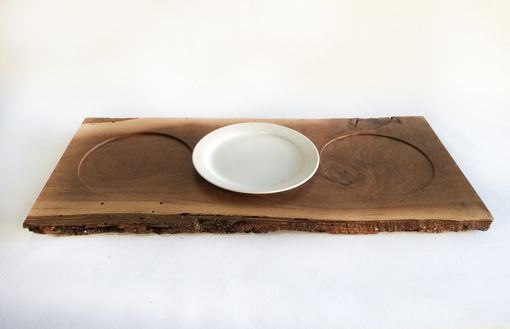Custom Made Live Edge Walnut Serving Trays