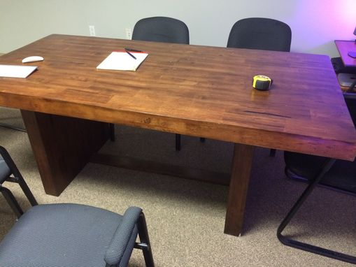 Custom Made Solid Maple Conference Table