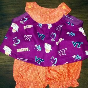 df410e02341 Newborn Girl Virginia Tech (Hokie) Outfit Size 0 - 3 Month by