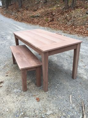 Custom Made Solid Walnut Table