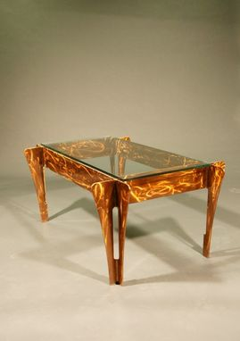 Custom Made Handmade Polished Steel Table