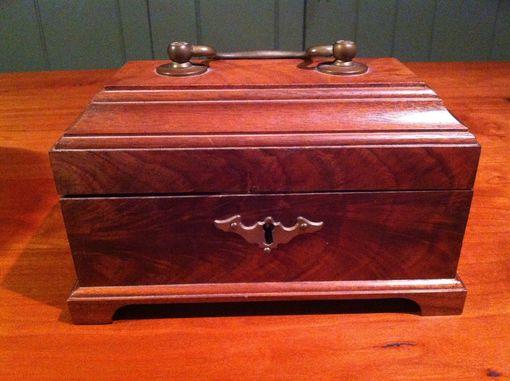 Custom Made Reproduction Figured Walnut Tea Caddy