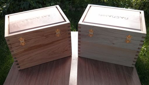 Custom Made Two Wooden Momento Boxes