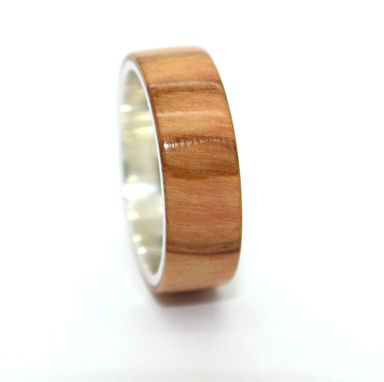 Custom Made Wood And Silver Custom Rings, Gift Engagement Anniversary Wedding