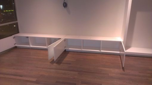 Custom Made Bench Seat With A Display Case
