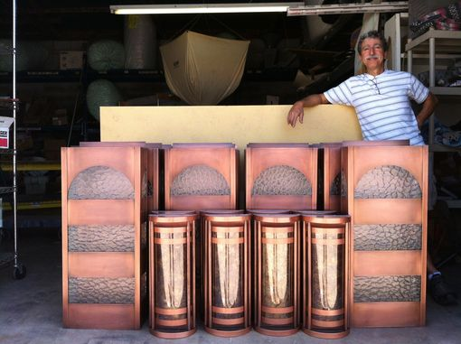 Custom Made Custom Copper Lighting For Jones Von Drehle Vineyards