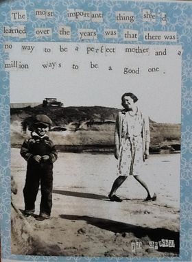 Custom Made Card Set Being A Mother Quote Vintage Photo