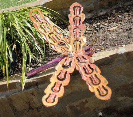 Custom Made Wall Art Metal Dragonfly Garden Accessories