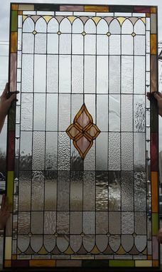 "Custom Made Stained Glass Window - ""Pale Tones Ii"" (W-84)"