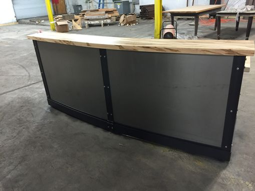 Custom Made Sleek Metal Front Desk/Reception Desk