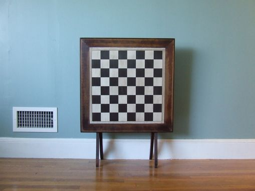 Custom Made Upcycled Folding Chess Table