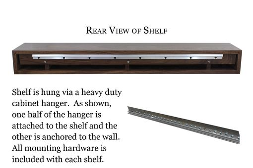Custom Made Floating Shelf | Solid Walnut