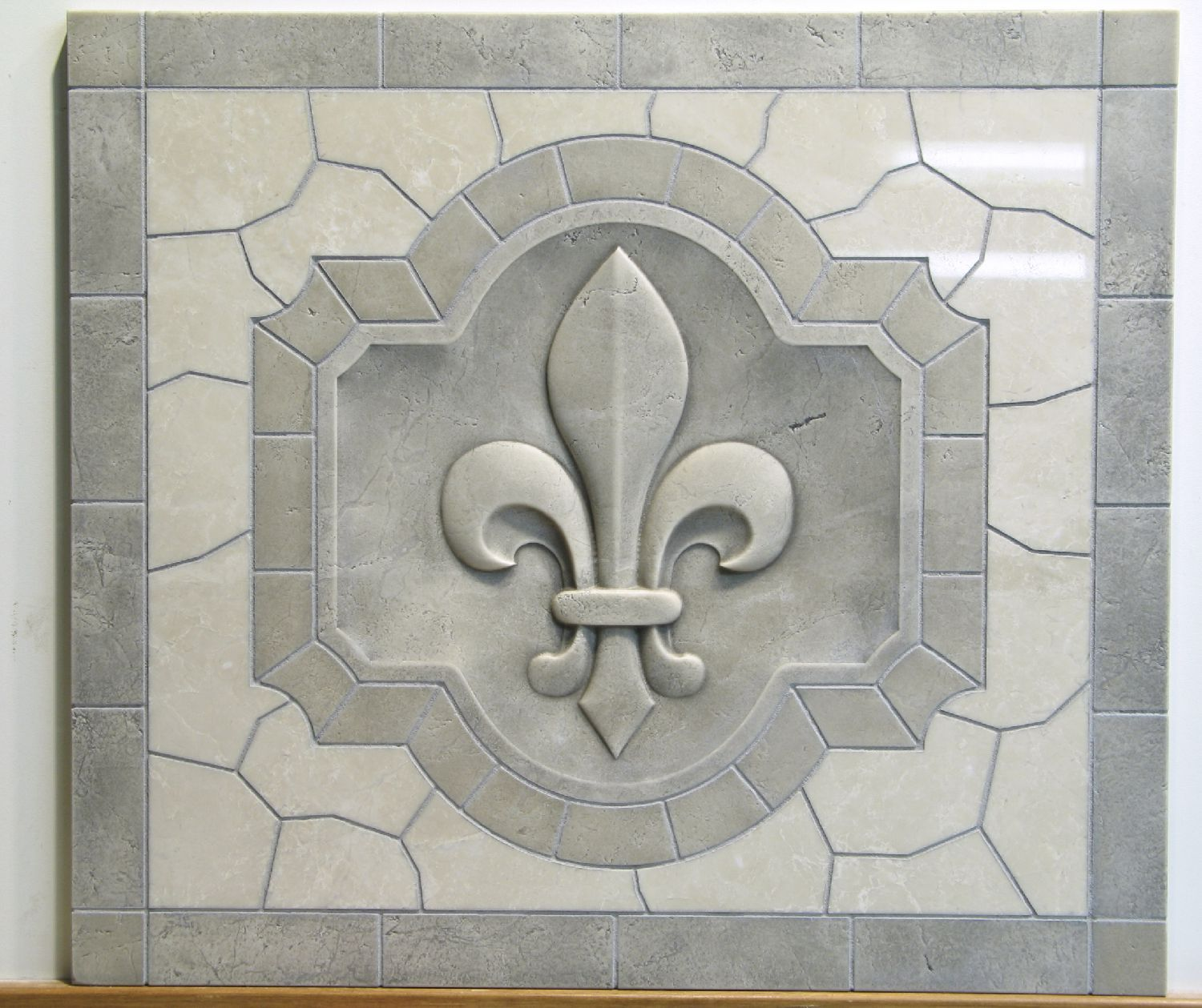 Buy A Custom Classic Fleur De Lis Relief Carved Marble Tile Made To