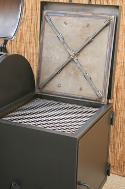 Buy a Hand Made Offset Smoker With Warmer Box - Heavy Duty
