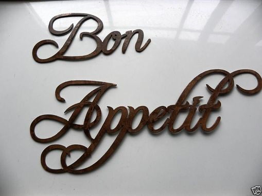 Custom Made Custom Words And Phrases Wall Metal Art.
