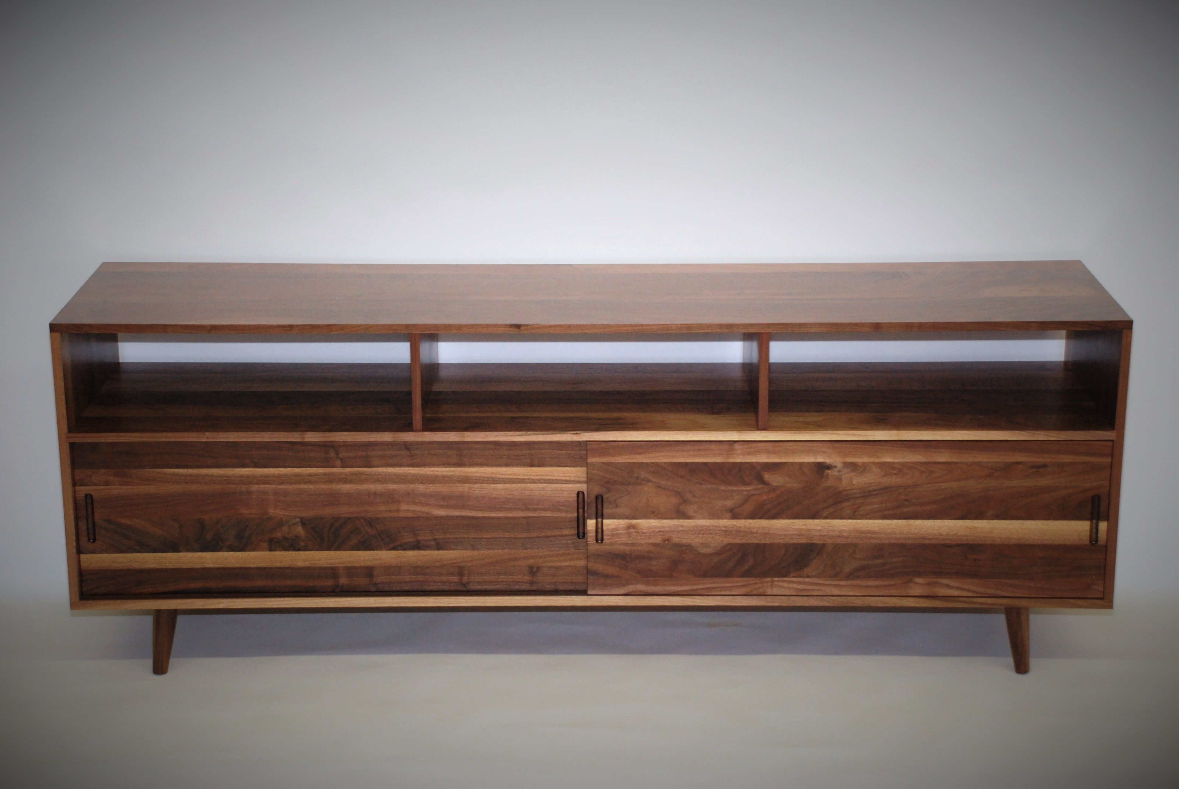 A Custom Made Mid Century Media Console To Order From Belak Woodworking Llc Custommade