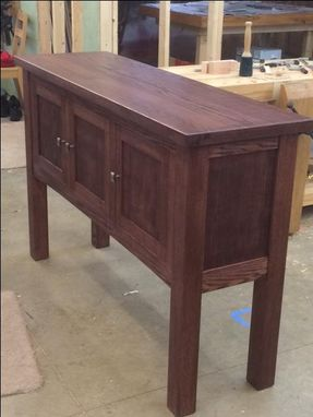Custom Made Solid Oak Sideboard