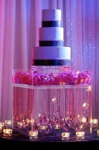 Hand Crafted Lucite Acrylic Cake Stand Display Deluxe