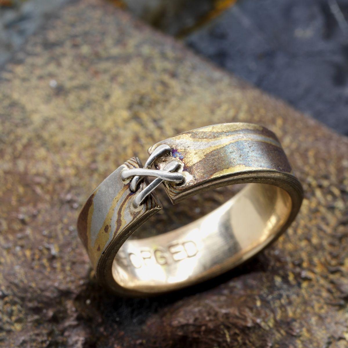 Mokume Gane Divorce Ring