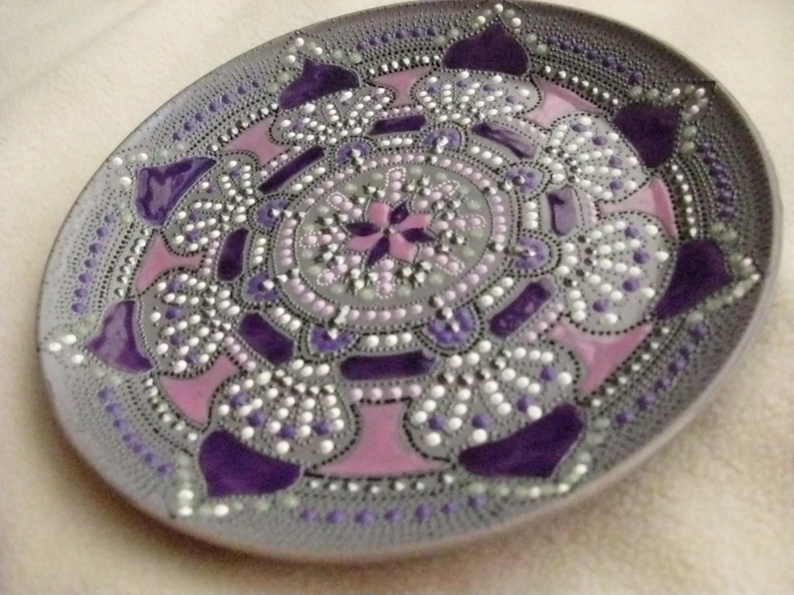 Hand Made Hand Painted Mandala Style Decorative Plate By