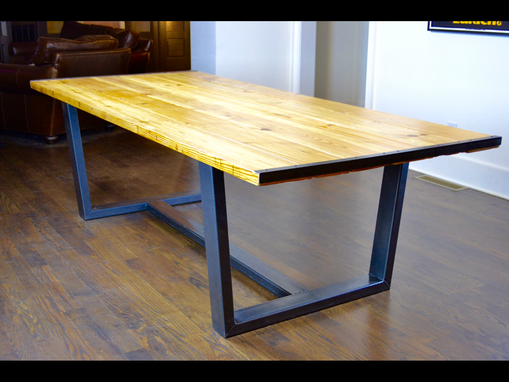 Custom Made Rustic Reclaimed Industrial Contemporary Custom Dining Table