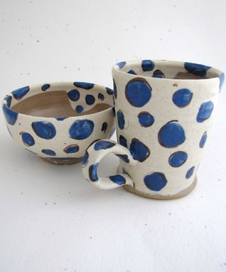 Custom Made Polka Dot Bowl And Mug Sets