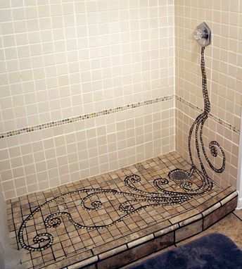 Hand Crafted Broken Ceramic Mosaic Tile Work By Earth