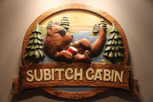 Custom Made Custom Carved Bear Signs, Cabin Signs, Deer Signs, Beaver Signs, Wolf Signs, Wildlife Signs