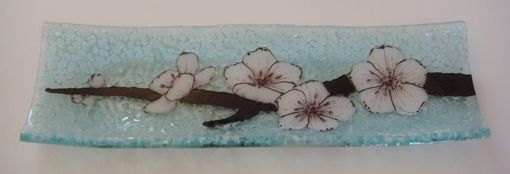 Custom Made Cherry Blossom - Glass Fused Channel Plate