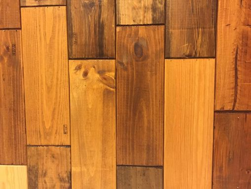 Custom Made 25 French Pine Planks From Wine Crates (25 Sf) Stained And Routered For Wall Or Flooring Works