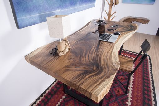 Custom Made Live Edge Wood Slab Table - Ideal For Office Desk / Dining Table