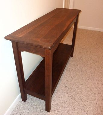 Custom Made Walnut Arts And Crafts Hall Table