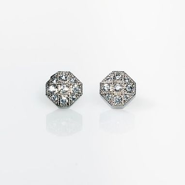 Custom Made Diamond Earrings Made From 18k White Gold