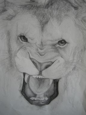 Custom Made Roaring Lion-Animal Portrait