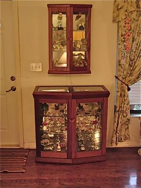 Custom Made Mahogany Curio Cabinets