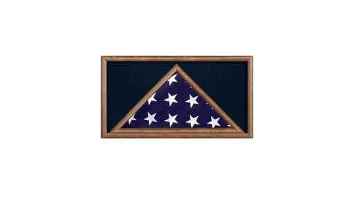 Custom Made Large Military Flag And Medal Display Case -Shadow Box