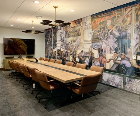 Custom Made I Beam Conference Table